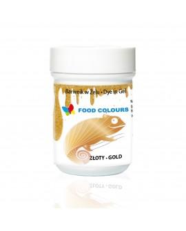 Barwnik w żelu Food Colours ZŁOTY