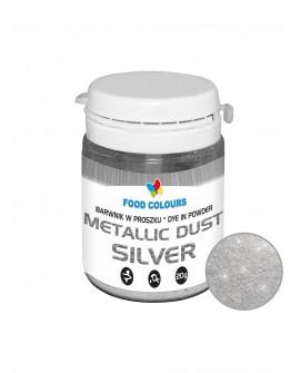 Barwnik pyłkowy FC METALLIC  SREBRNY 20 g Srebro