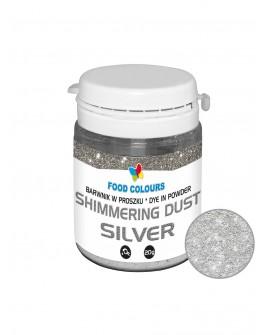 Barwnik pyłkowy FC SHIMMER SREBRNY 20 g Srebro do ręcznego dekorowania