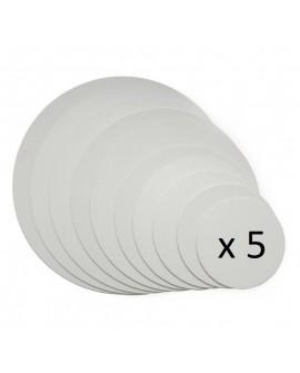 Podkład pod tort APrint 3 mm Biały 25 cm x 5