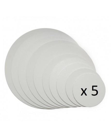 Podkład pod tort APrint 3 mm Biały 30 cm x 5