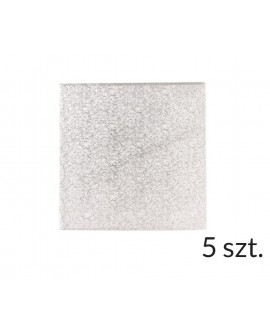 Podkład pod tort SZTYWNY 3 mm KWADRAT 20 cm - 5 szt.