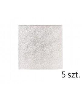 Podkład pod tort SZTYWNY 3 mm KWADRAT 25 cm - 5 szt.