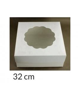 Opakowanie 32x32x14 cm Białe pudełko z oknem