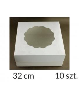 Opakowanie 32x32x14 cm Białe pudełko z oknem 10 szt.