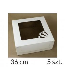 Opakowanie 36x36x15 cm Białe pudełko 5 szt.
