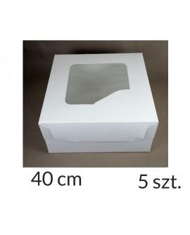 Opakowanie 40x40x20 cm Białe pudełko 5 szt.