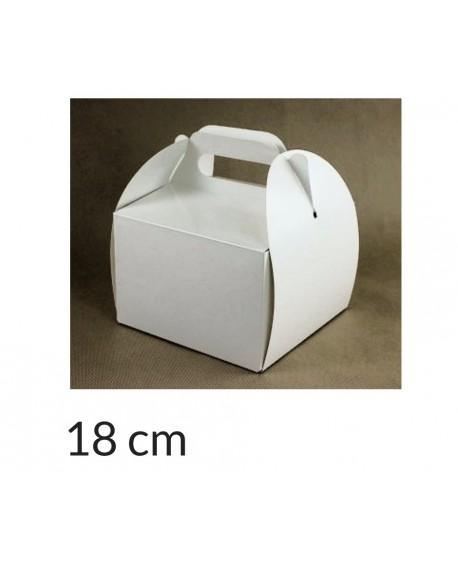 Opakowanie KOSZYCZEK 18x18x12 cm Białe pudełko