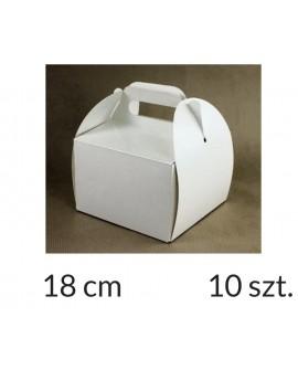 Opakowanie KOSZYCZEK 18x18x12 cm Białe pudełko 10 szt.