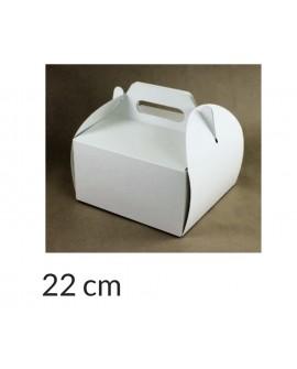 Opakowanie KOSZYCZEK 22x22x12 cm Białe pudełko