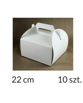 Opakowanie KOSZYCZEK 22x22x12 cm Białe pudełko 10 szt.