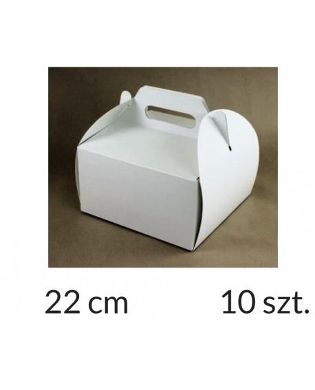 Opakowanie 22x22x12 cm Białe pudełko KOSZYCZEK 10 szt.