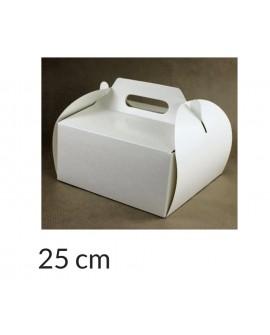 Opakowanie KOSZYCZEK 25x25x12 cm Białe pudełko