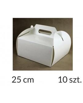 Opakowanie KOSZYCZEK 25x25x12 cm Białe pudełko 10 szt.