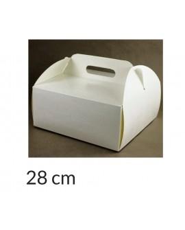 Opakowanie KOSZYCZEK 28x28x12 cm Białe pudełko