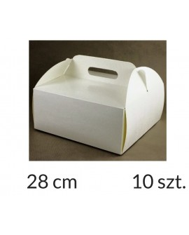 Opakowanie KOSZYCZEK 28x28x12 cm Białe pudełko 10 szt.