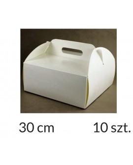 Opakowanie KOSZYCZEK 30x30x12 cm Białe pudełko 10 szt.