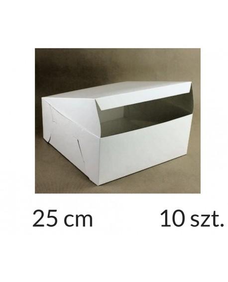 Opakowanie 25x25x12 cm Białe pudełko KLEJONE 10 szt.
