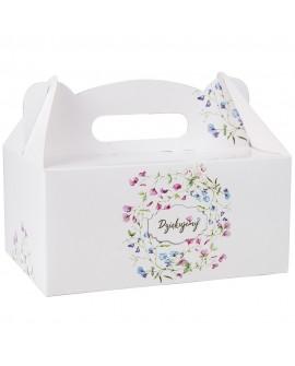 Pudełko na ciasto 19x14 cm KWIATY 10 szt.