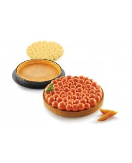 Zestaw do tarty BUBBLE Rant perforowany + forma silikonowa 19 cm Tarta