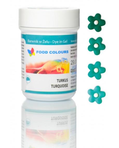 Barwnik w żelu Food Colours TURKUSOWY