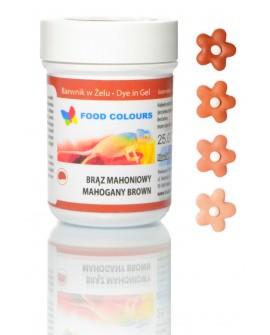 Barwnik w żelu Food Colours BRĄZ MAHONIOWY
