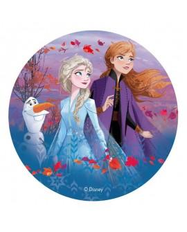 Opłatek na tort KRAINA LODU II 20 cm Frozen Elsa