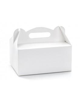 Pudełko na ciasto 19x14 cm BIAŁE 10 szt. Party Deco