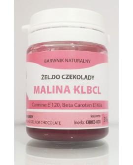 Naturalny barwnik do czekolady w żelu MALINOWY