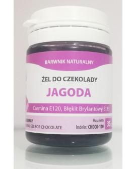 Naturalny barwnik do czekolady w żelu JAGODOWY