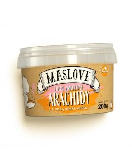 Pasta Maslove ORZECHY ARACHIDOWE z solą himalajską 100% 200 g