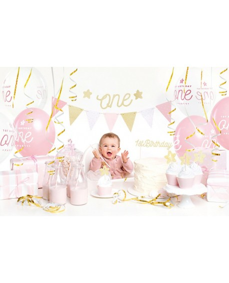 Zestaw dekoracji ROCZEK ZŁOTY urodziny