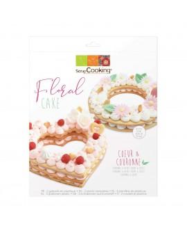 Floral Cake szablony serce i koło 24 cm kruchy tort warstwowy