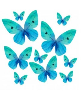 Motyle waflowe Turkusowe 10 szt.