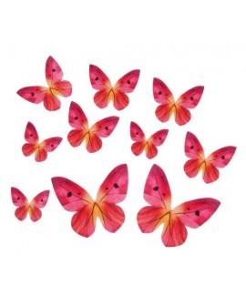 Motyle waflowe Różowe 10 szt.