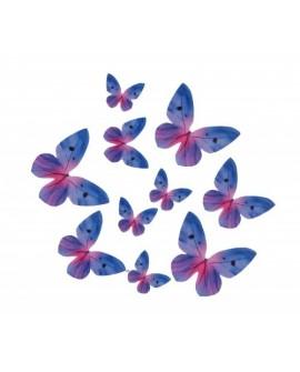 Motyle waflowe Niebieskie 10 szt.