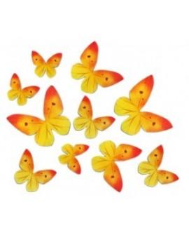 Motyle waflowe Żółte 10 szt.