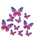 Motyle waflowe Fioletowe 10 szt.