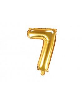 Balon foliowy 35 cm ZŁOTY Cyfra 7