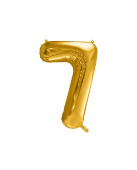 Balon foliowy XXL 86 cm ZŁOTY Cyfra 7