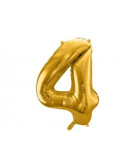 Balon foliowy XXL 86 cm ZŁOTY Cyfra 4