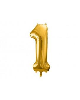 Balon foliowy XXL 86 cm ZŁOTY Cyfra 1