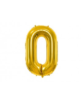 Balon foliowy XXL 86 cm ZŁOTY Cyfra 0
