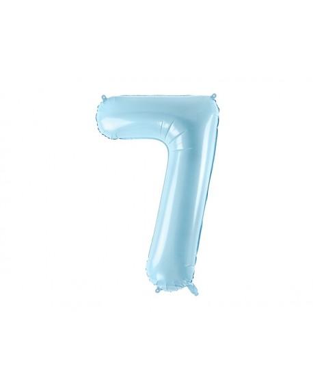 Balon foliowy XXL 86 cm BŁĘKITNY Cyfra 7