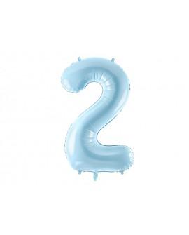 Balon foliowy XXL 86 cm BŁĘKITNY Cyfra 2