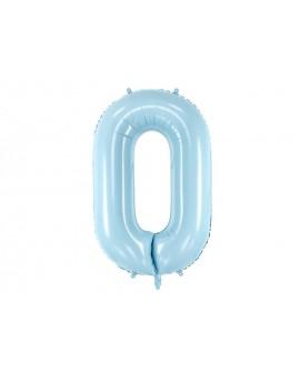 Balon foliowy XXL 86 cm BŁĘKITNY Cyfra 0