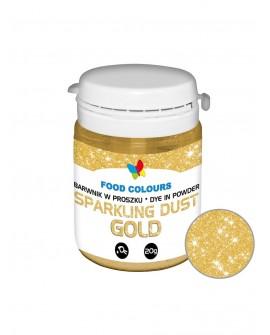 Barwnik pyłkowy FC SPARKLING Gold 20g Złoty brokat
