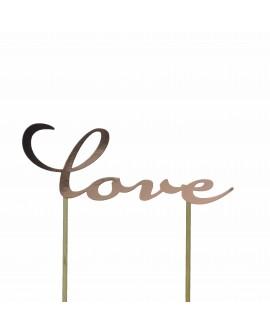 Topper AD LOVE - RÓŻOWE ZŁOTO Ozdoba na tort