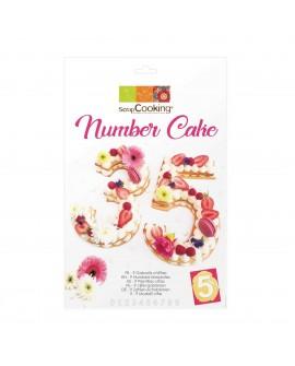 Number Cake szablony cyfry 28 cm kruchy tort warstwowy