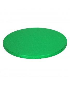 Podkład pod tort ZIELONY 12 mm SZTYWNY 25 cm